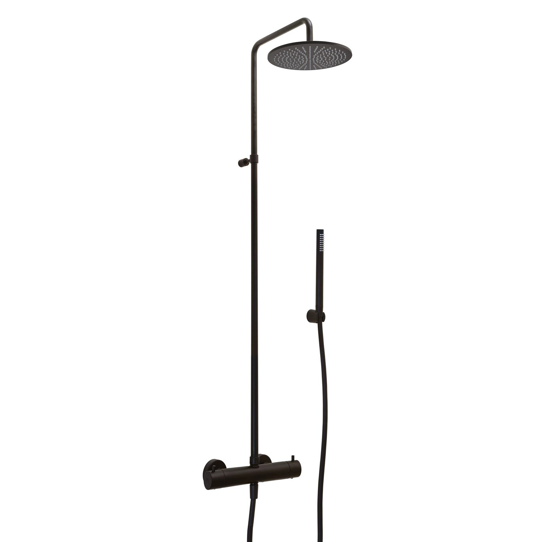 Kronenbach Duschsystem Lima 2.0 mit Thermostat / Brause Ø 30 cm